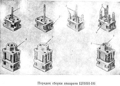 сборка поглощающего аппарата  ЦНИИ-Н6