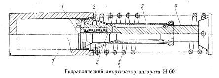 Гидравлический амортизатор аппарата Н-60